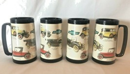 (4) Vintage Thermo-Serv Mugs Antique Chevrolet Touring Cars Lot of 4 - $24.70