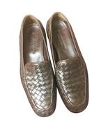 MINT. Vintage Bottega Veneta classic dark brown intrecciato leather shoe... - $338.00