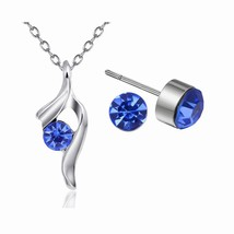 Women's 3 Pcs Necklace & Earring & Ring Set Fashion Rhinestone All-Match... - $8.99