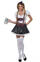 Women's Flirty Fraulein Adult Oktoberfest Beer Maid Halloween 3pc Costum... - $39.99