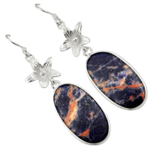 Adorable Sodalite Earrings, 925 Silver, One of a Kind, Unique Stone - $28.00