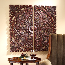 Carved Rosette Architectural Wall Sculpture - $171.95