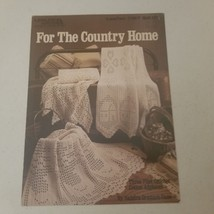 For the Country Home Leisure Arts Leaflet 1167 3 Filet Crochet Afghans VTG - $7.68