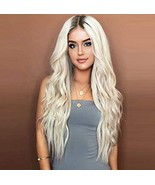 Synthetic Wigs for women Natural Looking Long Wavy Middle Parting NONE L... - $14.10