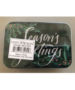Christmas Gift Card Tin Holder Seasons Greetings Lindy Bowman Co. New Sealed - $3.65