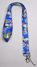 Peanuts SNOOPY Blue LANYARD KEY CHAIN Ring Keychain ID Holder NEW - $12.99
