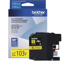 NEW Brother Genuine LC 103 Y XL High YieldYellow Ink Cartridge 600 Pages... - $18.90