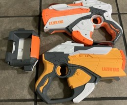 Lot Of 2 Hasbro 2012 Nerf Lazer Tag iPhone iPod Dock With iPhone Case - $19.99