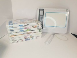 Nintendo Wii uDraw Lot with Drawing Pad and Games Pre-owned Tested and W... - $29.65