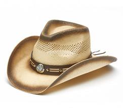 TX-1200 TOYO STRAW WESTERN COWBOY HAT w/ Indian Chief Emblem  One Size NWT - $42.06