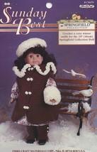 Sunday Best, Fibre Craft Crochet 18 inch Doll Clothes Pattern Booklet FCM479 HTF - $4.95