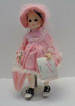 Madam Alexander Doll Rebecca 1585 Pink Dress and Bonnet Pink Parasol - $59.35