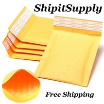 1-500 #000 4x8 ( Yellow ) Kraft Bubble Padded Envelopes Mailers Fast Shi... - $0.98+
