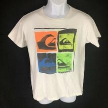 Quiksilver Boys T-shirt White L - $14.84