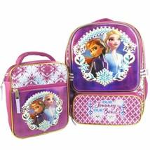 Disney Frozen 2 Girls Backpack w/Matching Lunch Bag 16 in Interior  - $32.71