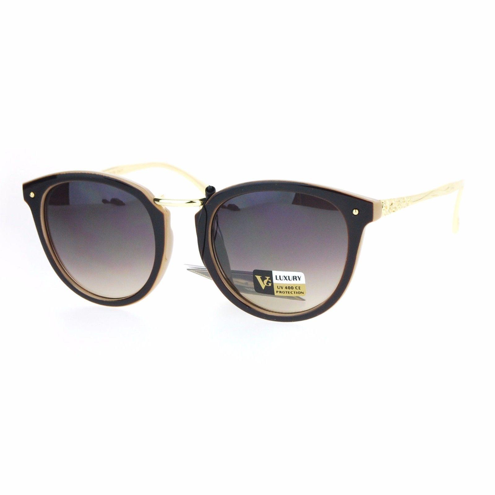 Womens Fashion Sunglasses Metal Bridge Rose Design Temple UV 400