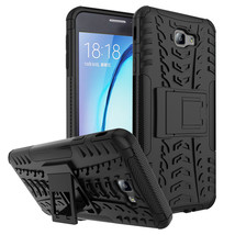 Armor with kickstand Protective Case for Samsung Galaxy On7 (2016) - Black  - $4.99
