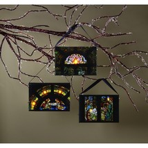 OWI Christmas Light-Up Ornaments - Christ id Born Nativity Theme 3pc. #4... - $22.72