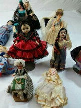 "16 various  makers and size dolls tallest one is under 10"" - $57.82"