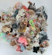 Big Lot of 40 Ty Beanie Babies Most have tags and been in plastic wrap 90s - $69.30