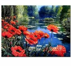Diamond Painting Landscape Flower Lake Embroidery Full Set Rhinestone De... - $9.89+