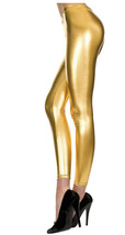 Gold Metallic Leggings (sh) - $79.19