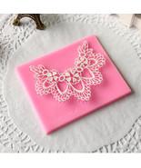 Silicone Fondant Mold Lace Flower Fondant Cake Mould Silicone Fondant Mo... - $13.49