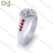 Round Cut 0.15ct Red Diamond Captain Marvel Symbol Inspired Engagement R... - £72.28 GBP