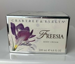 CRABTREE & EVELYN FREESIA BODY CREAM 6.8 Fl Oz New Sealed In Box - $28.71