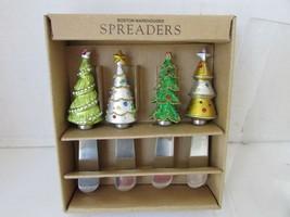 BOSTON WAREHOUSE SET OF 4 JEWELED CHRISTMAS TREE SPREADERS #85940 BOXED - $5.89