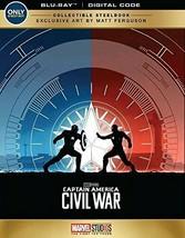 Captain America Civil War Blu-Ray, DVD, Digital Edition Steelbook - $15.00