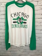 Chicago Blackhawks  NHL Hockey Long Sleeve  St Patrick's Day T-shirt M 38/30 - $9.89