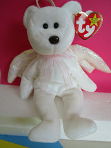 TY Beanie Babies HALO White Teddy Bear angel with WINGS, Plush Toy 1998 - $4.99