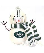 NFL Snowman Ornament Blown Glass NY Jets - $20.57