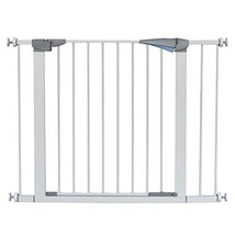 LEMKA Walk Thru Baby Gate, 31-41 inch Auto-Close Safety Pet Gate Metal Expandabl image 1