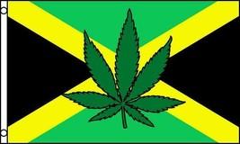 JAMAICA MARIJUANA POT LEAF 3 X 5 FLAG banner FL702 3x5 hanging JAMAICAN ... - $7.17