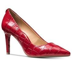 MICHAEL Michael Kors Dorothy Flex Pump Classic Heels Red Embossed Croc S... - $103.95