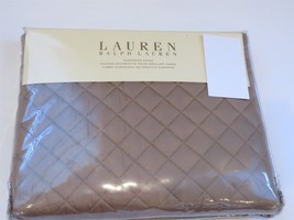 Ralph Lauren SOLID COLOR DIAMOND STITCH Tan Euro sham - $58.15