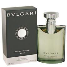 Bvlgari Pour Homme Soir by Bvlgari Eau De Toilette Spray 3.4 oz for Men ... - $63.71