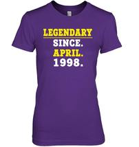 Legendary Since April 1998 Shirt 20th Birthday Gifts image 3
