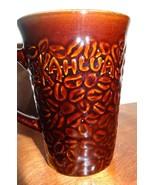 Brown Kahlua Coffee Mug Cup  Embossed Bean Tall 11 oz - $8.56