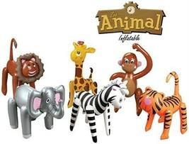 (6) Gonfiabile Zoo Animali Giungla Set Compleanno Decorazioni Festa Luau... - $26.22
