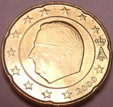 Unc Belgium 2000 20 Euro cents~Minted In Brussels~New Millenium - $3.17