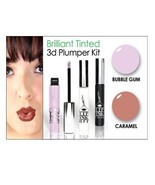 LIP INK  Smearproof 3D Lip Plumper & Lipstick Kit - Caramel/Bubblegum - $57.07