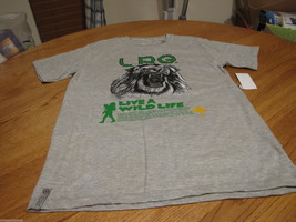 Boys youth LRG brand T shirt premium fit medium M ash grey live a wild l... - $8.50