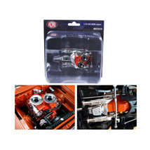 Engine with Headers and Transmission Replica Hemi Bullet Hemi 426 1/18 b... - $31.44