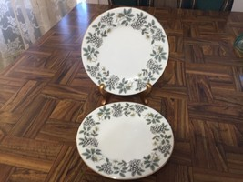 "Vintage 1950s Pair of Royal Albert Bone China England ""Angelica"" Dessert Plates - $15.84"