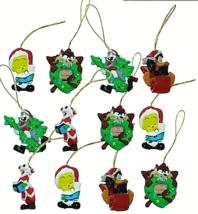 Looney Tunes Mini Ornaments SET of 12 Christmas Ornaments For Mini Trees NIB - $7.69