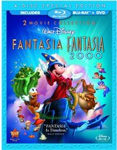 Disney Fantasia / Fantasia 2000 (Four-Disc Blu-ray/DVD Combo) (2010)