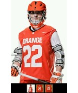 New Nike Men's L Syracuse Orange Sleeveless Men's Lacrosse Jersey #22 - $40.46